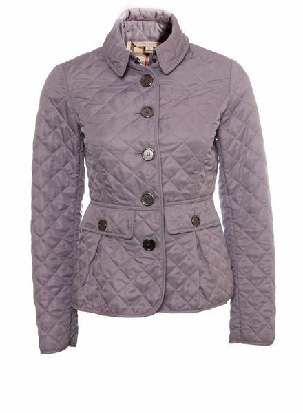 Burberry Burberry, lila purple quilted wind jacket in size XS.