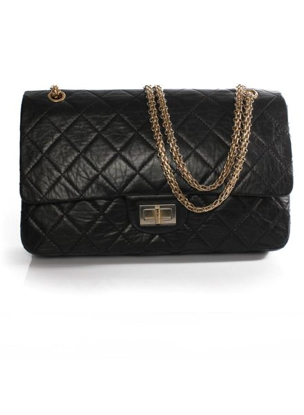 Chanel Chanel, Classic Mademoiselle Double Flap Jumbo in Black Caviar leather. (Special Jubileum Edition)