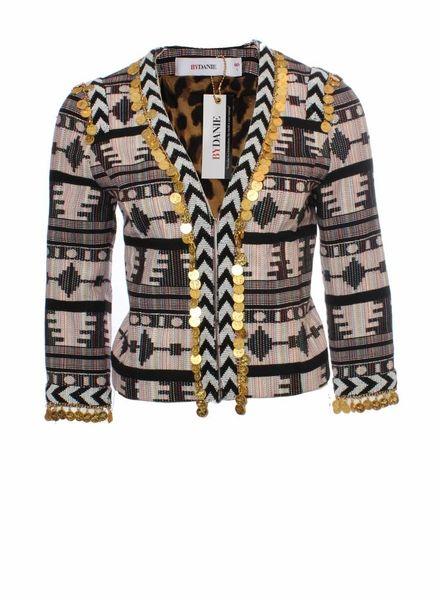 ByDanie Dani Bles, multi kleur pastel jasje met bedeltjes in maat 1.