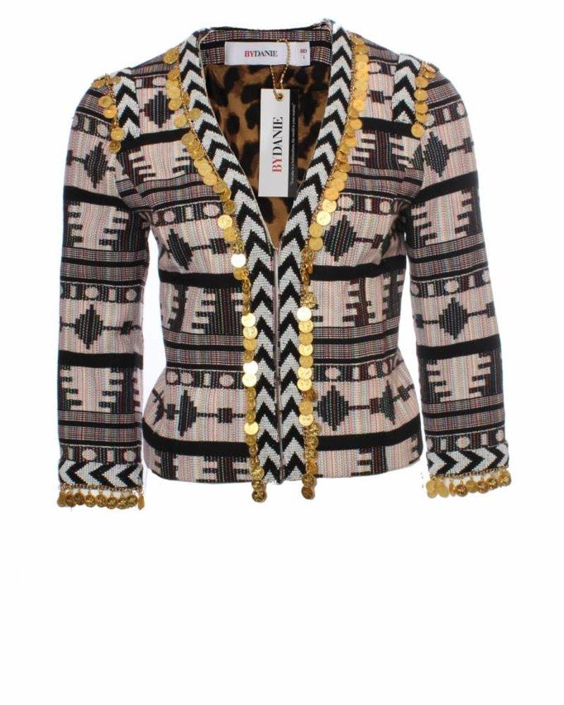 ByDanie ByDanie, multi kleur pastel jasje met bedeltjes.
