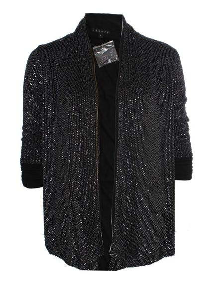 Theory Theory, black jacket with silver sequins.