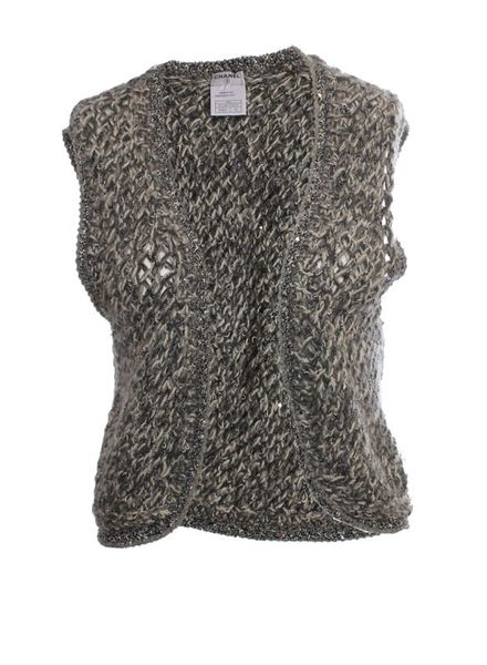 Chanel Chanel, gray multi-color vest in size 42.