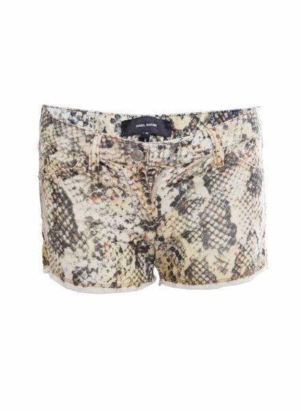 Isabel Marant Isabel Marant, multicoloured corduroy shorts in snake print in size 38.