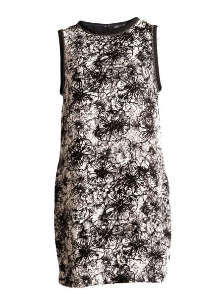 Proenza Schouler Proenza Schouler, offwhite-beige/black colored sleeveless dress with graphical flower print in size 8/S.