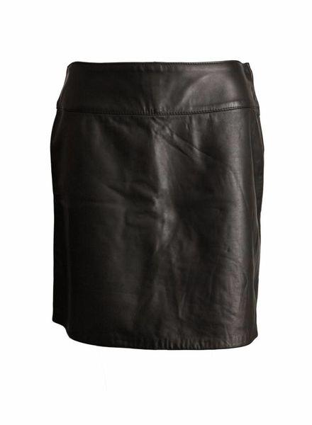 Dolce & Gabbana Dolce&Gabbana, zwart leren rok in maat 46/M.