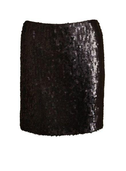 Chanel Chanel, zwart rokje met pailletten in maat 40.