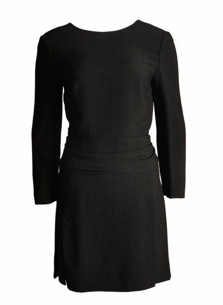Chloé Chloe, zwarte jurk met opening op de rug in maat 38F/S.