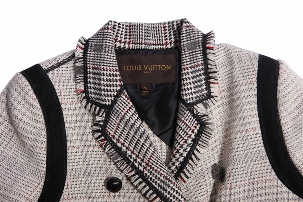 Fonkelnieuw Louis Vuitton, zwart/witte tweed jas met ¾ mouwen in maat FR40/S FD-57