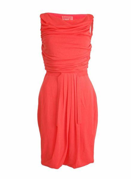 Giambattista Valli Giambattista Valli, Oranje romeins gedrapeerde jurk in maat 42/S.