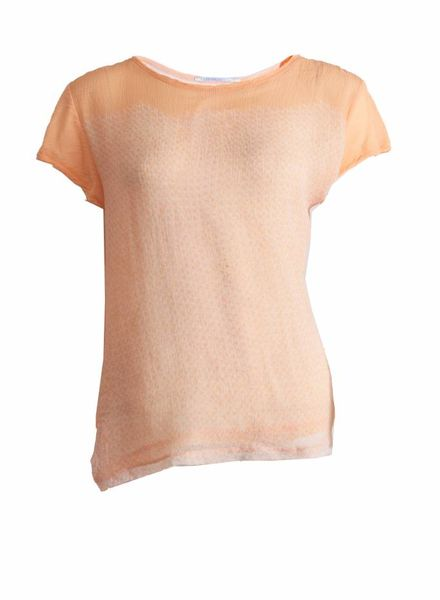 Proenza Schouler Proenza Schouler, orange/peach colored assymetrical top in size M.
