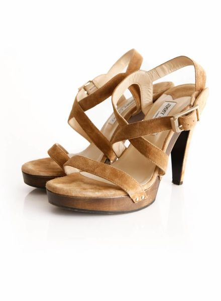 Jimmy Choo Jimmy choo, camel colored suede clogsandal in size 40.