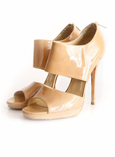 Jimmy Choo Jimmy Choo, livercolored patent leather sandals in size 40.