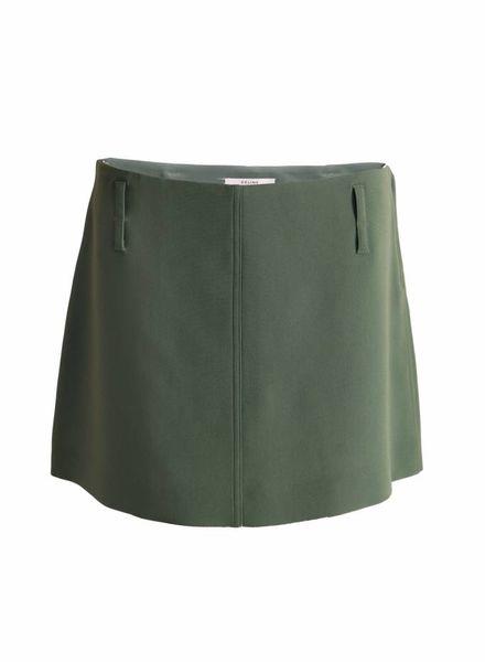 Celine Celine, Olive green skirt.