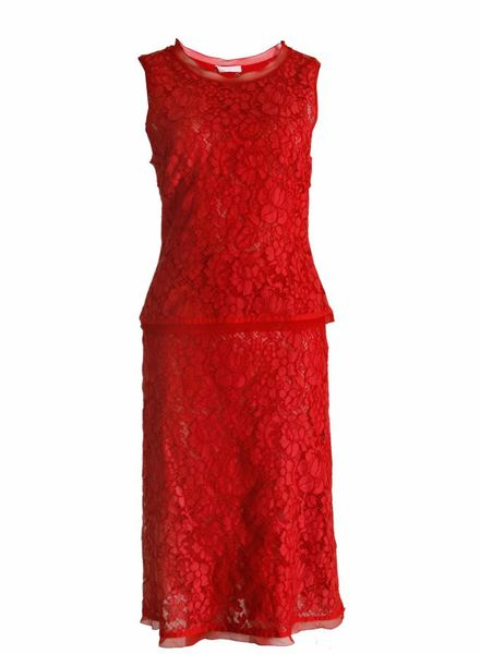Prada Prada, red lace skirt (IT42/S) and top (IT44/S).