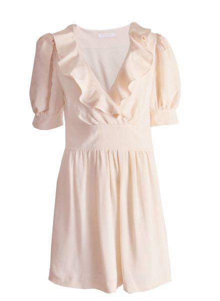 Chloé Chloe, off-white romantische jurk in maat M.