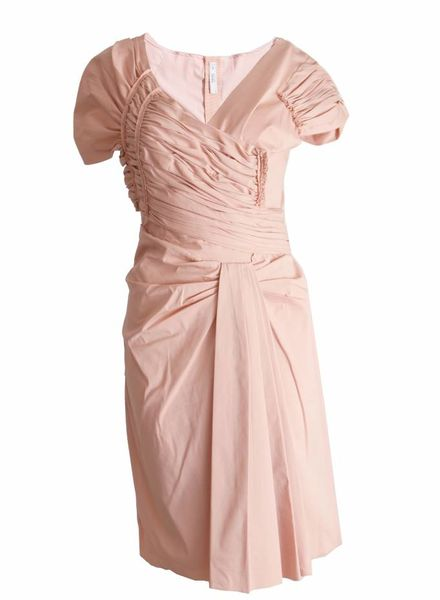 Prada Prada, pink wrinkledress in size 42IT/S.