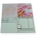 Kunden-Karte Rosa-Blumen
