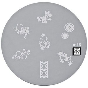 Nail Stamping Schablone M16