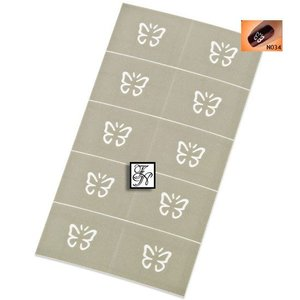 Nailart Nail Stamping Schablone Nr.034