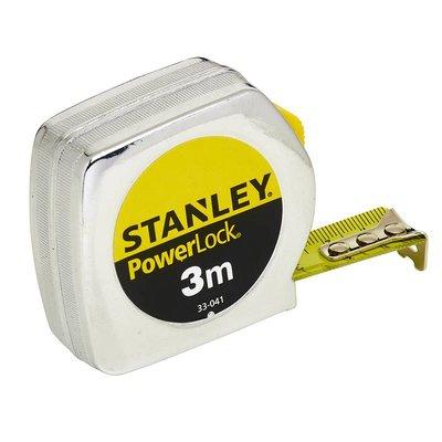 Stanley Rolbandmaat PowerLock® Metaal 3 Meter