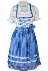 Dirndl Helena 3delig Blauw Wit