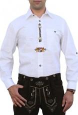 Trachtenhemd wit met wapenschild decoratie