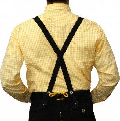 Trachtenhemd Geel Wit