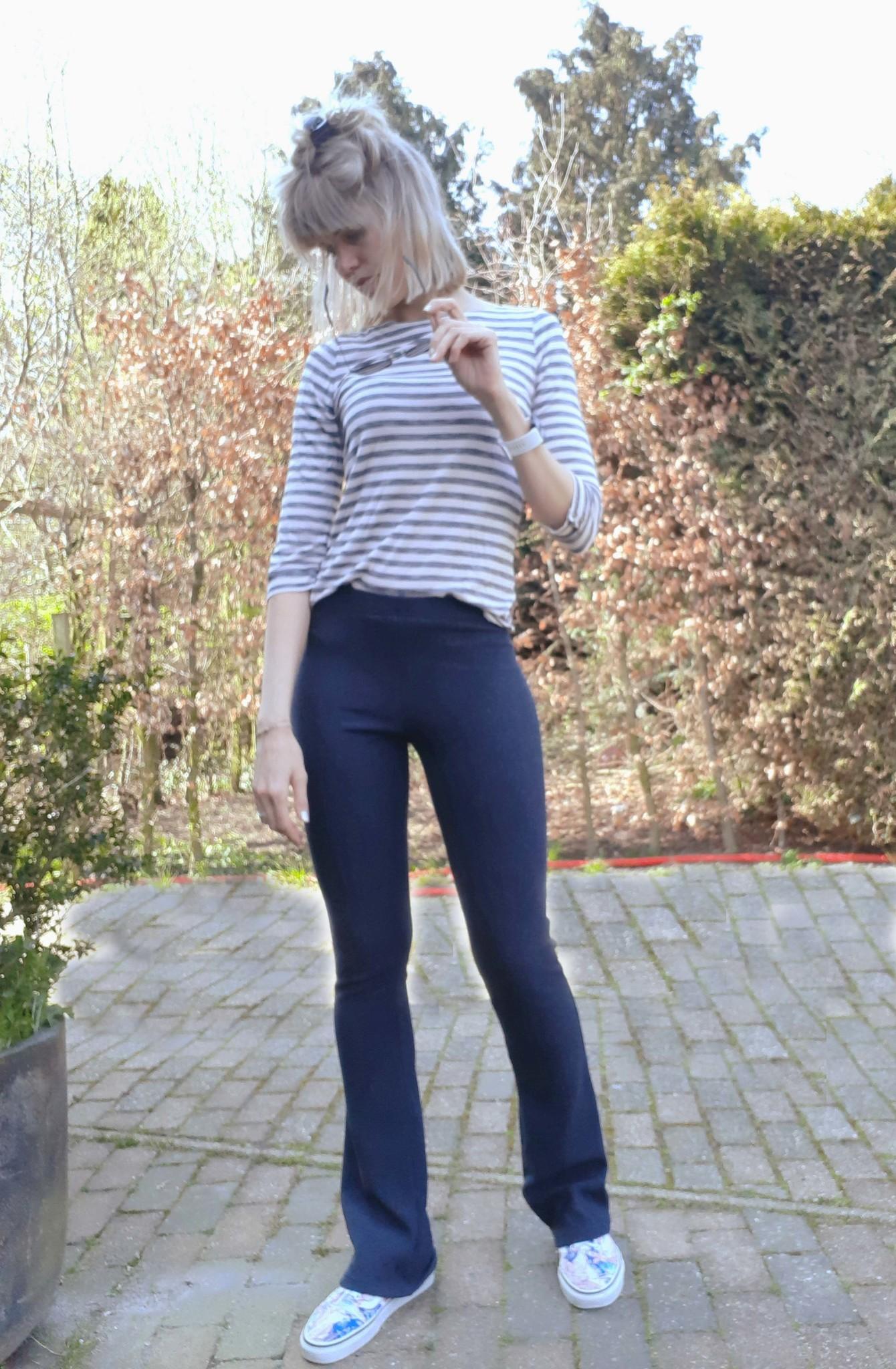 flare broek lange benen