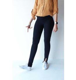 Lange legging zwart | met split
