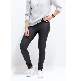 Lederlook legging | zwart