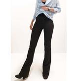 Flared pants zwart | pinstripe