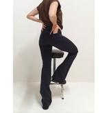 Flared pants blauw | pinstripe