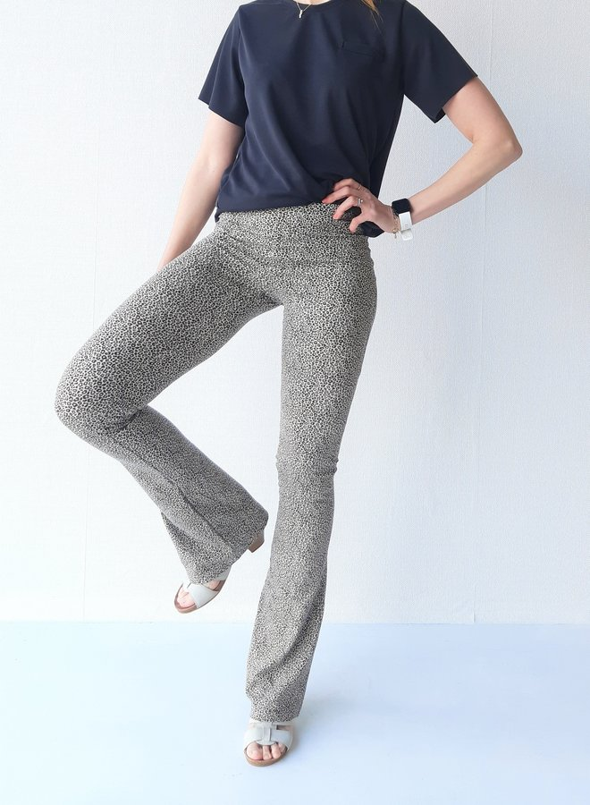 Flared pants panter ecru