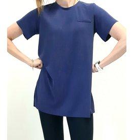 Maxi shirt | blauw
