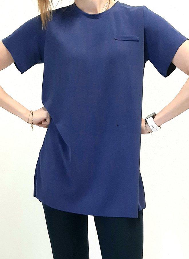 Maxi shirt | Kobalt blauw
