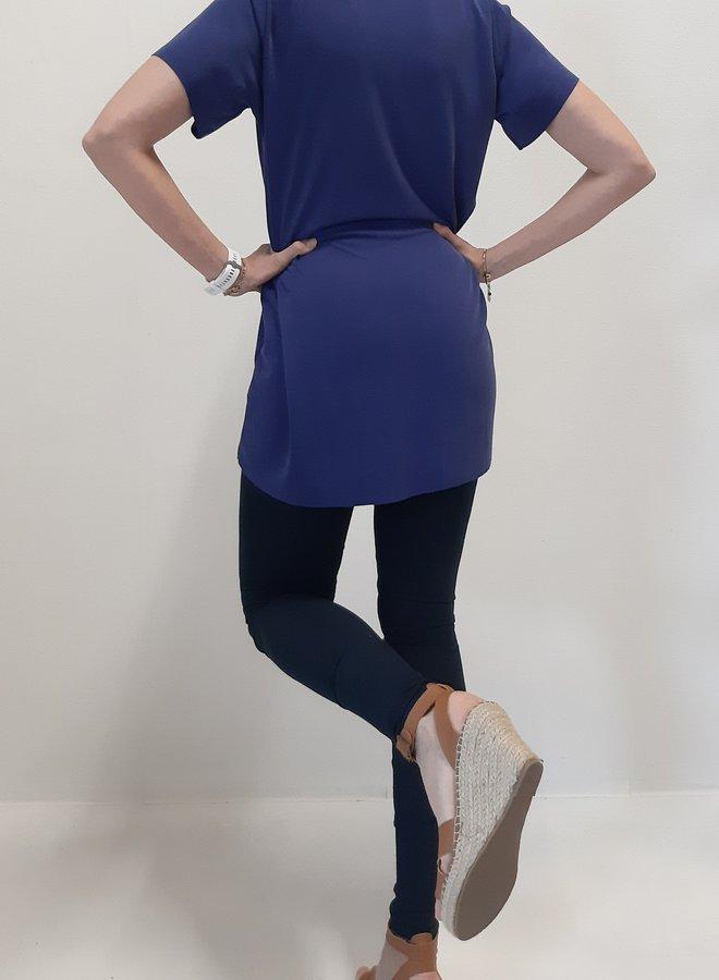 Maxi shirt | blue