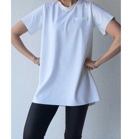 Maxi shirt | wit