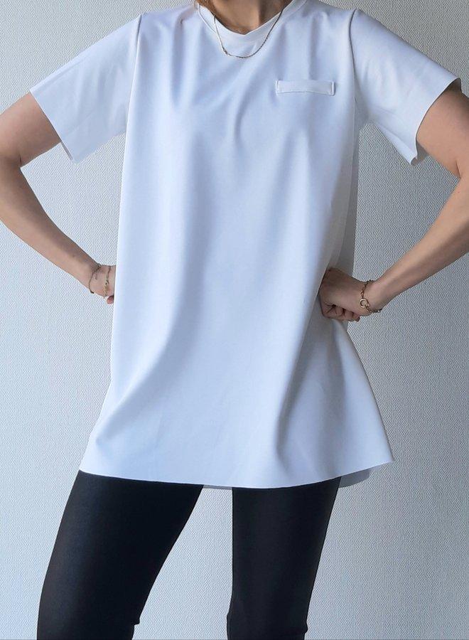 Maxi shirt   wit