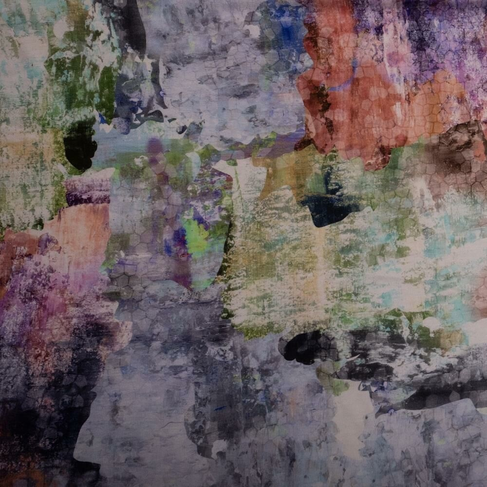 Oil paint print viscose