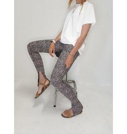 Lange legging leopard | met split