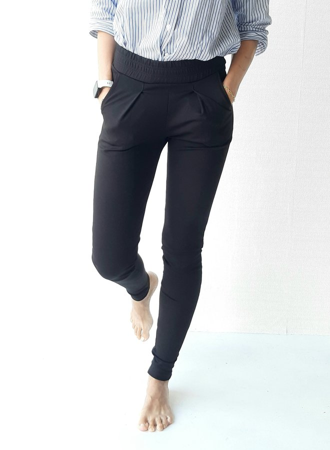 Trousers black extra long