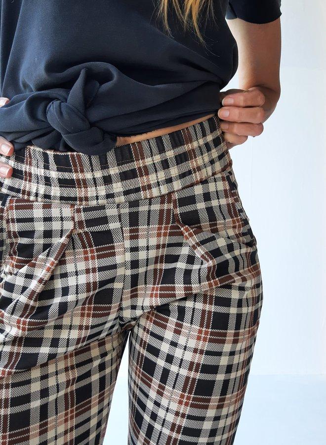 Pantalon | extra lang | ruiten print