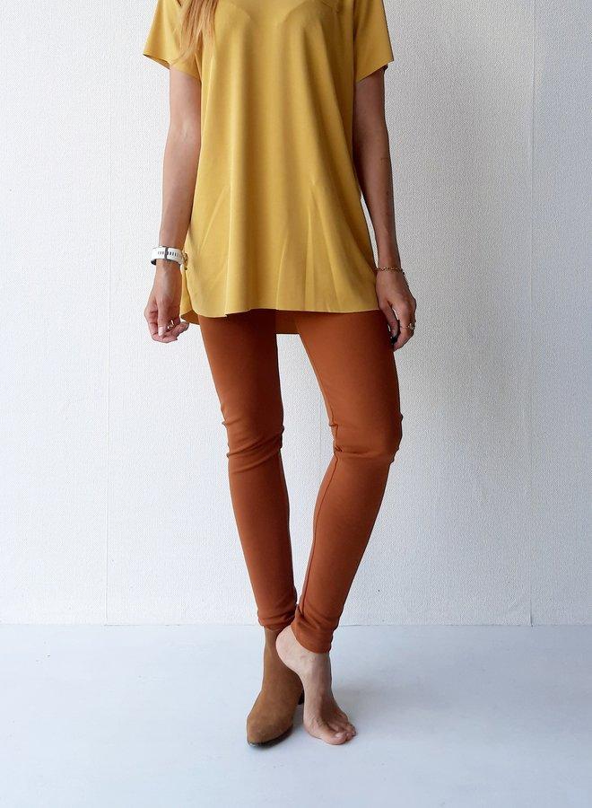 Trousers long legs | cognac color