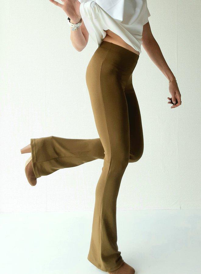 Flared legging   olijf groen