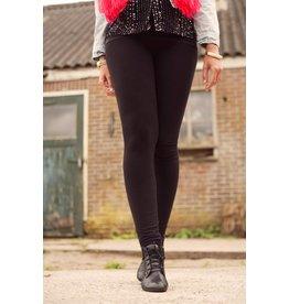 IN DIKKERE STOF | Lange legging zwart