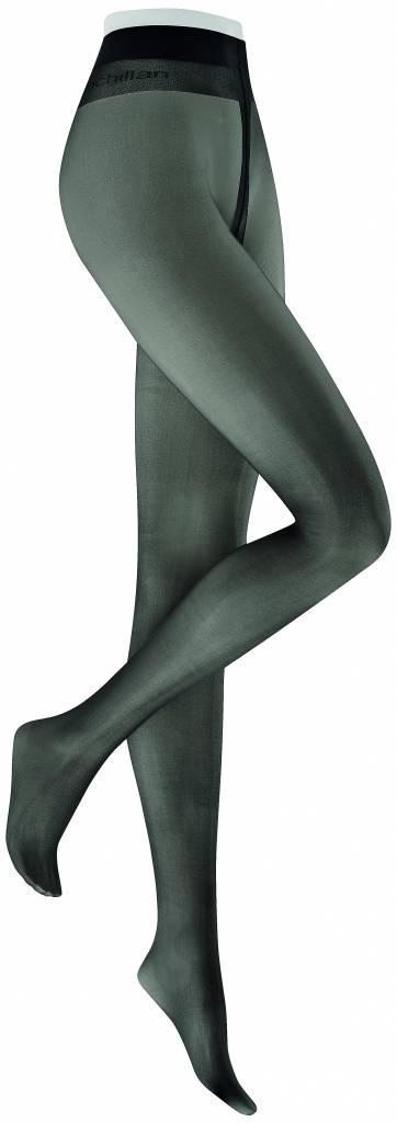 Extra lange 20 denier panty zwart