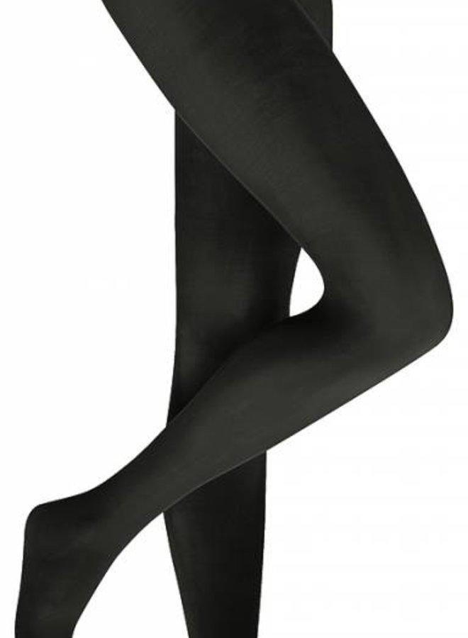 Extra lange panty 40 denier mat zwart/ antraciet