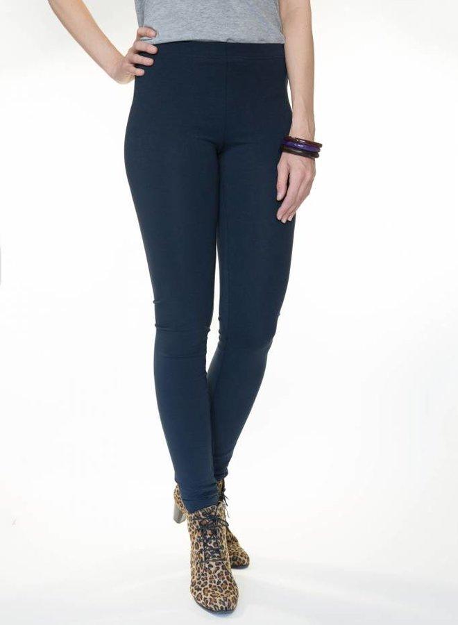 Lange legging marineblauw