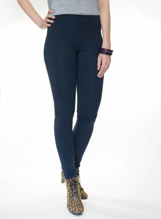 Dark blue legging extra long legs
