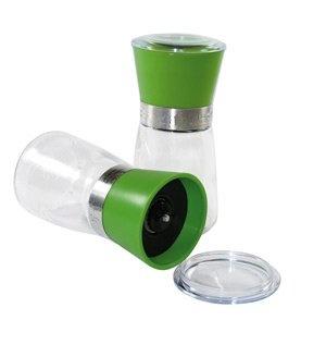 Mittelgroße Gewürzmühle grün 13cm